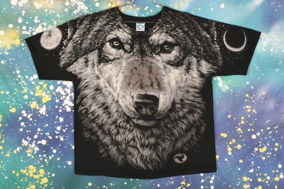 Vintage Liquid Blue Wolf T-Shirt