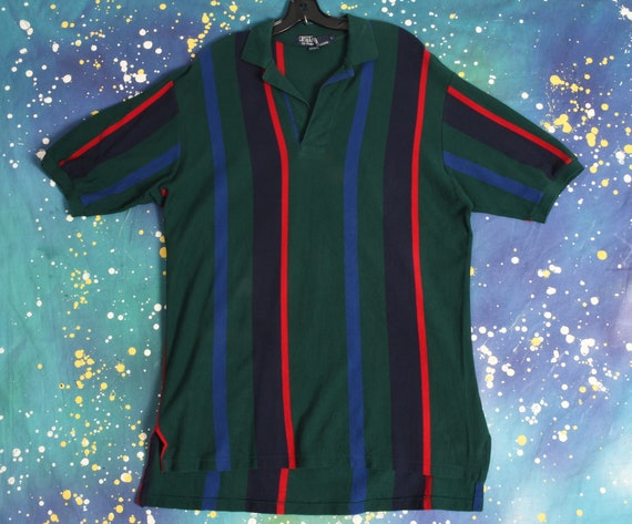 90s vintage POLO Ralph Lauren vertical stripe Polo