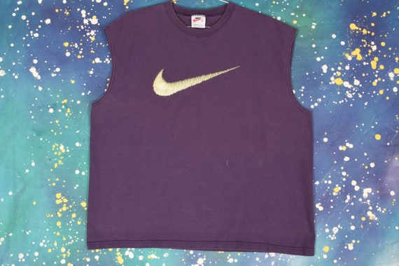 90s 00s NIKE embroidered looking Swoosh Tank Top -