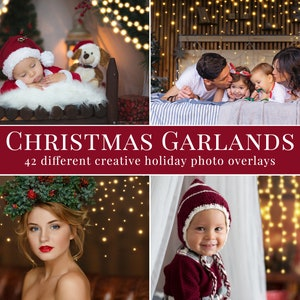 sparkle Creative Christmas photo overlays for Photoshop action holiday frame overlays great for minis winter xmas shine /& bokeh