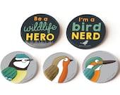 Pin Badges: wildlife set ...