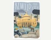 Rewild your city A4 print...