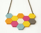 Large geometric necklace ...