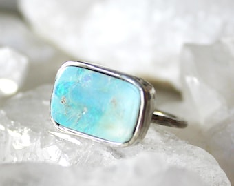 fire opal ring, opal ring, recycled silver, statement ring, fire opal, boulder opal, cocktail ring, opal jewelry