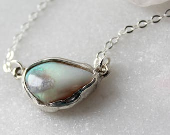 fire opal choker, fire opal necklace, silver opal necklace, october birthstone, recycled silver necklace
