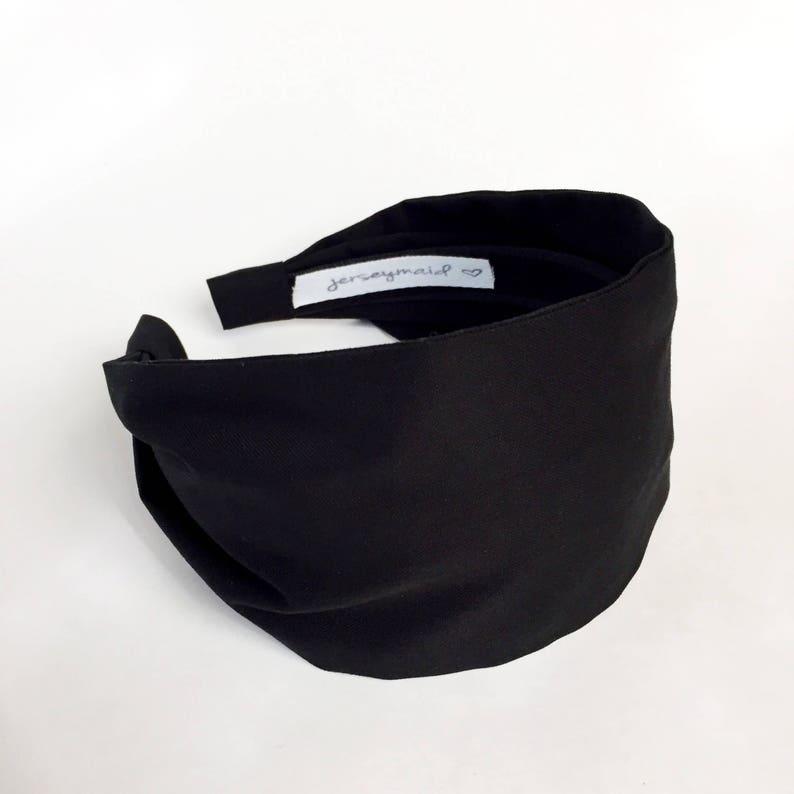 Black Headbands for women black jerseymaid adult headband  8eedf21b761