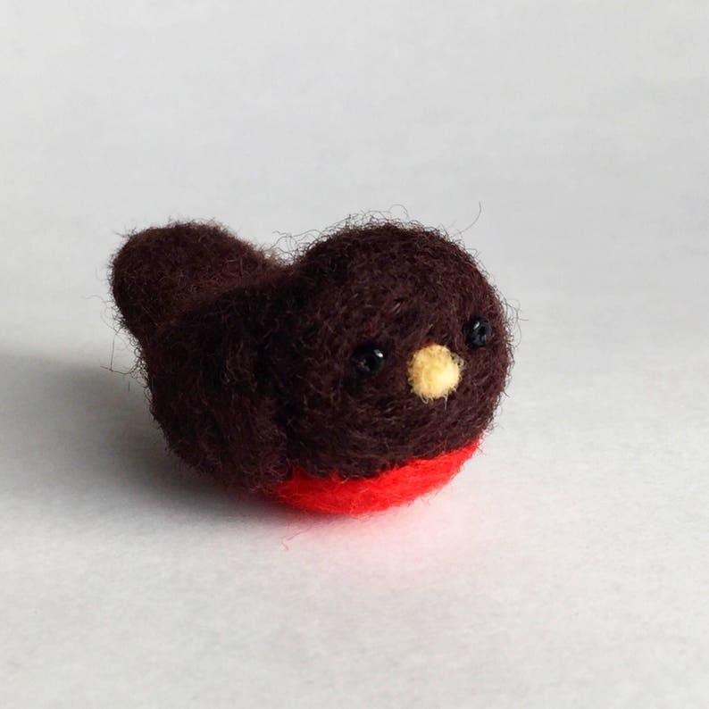 Miniatures Needle Felted Robin Red Breast Needle Felt Birds Bird Gift