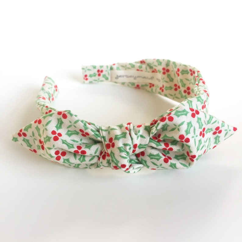 829122df6ad0 Christmas Headbands for women with bow side knot headband