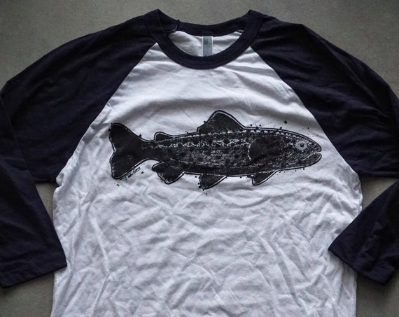Big Trout Baseball Tee - American Apparel