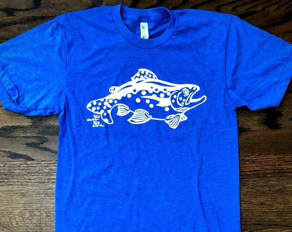 Bold Trout T Shirt - American Apparel