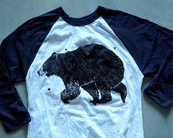 Black Bear Ink Baseball Tee - American Apparel