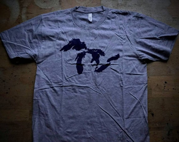 Great Lakes T Shirt - American Apparel - Limited Sizes Available