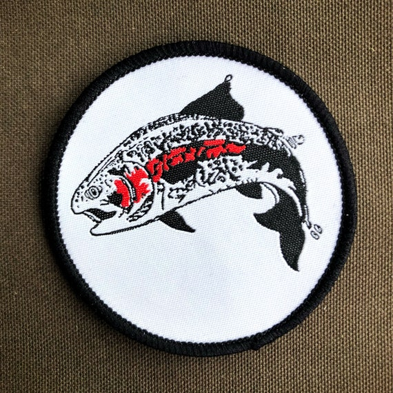 Rainbow Trout Woven Patch
