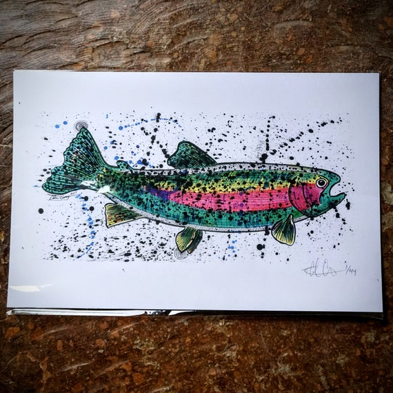 Big Rainbow Trout Print - 11x17 - Limited Edition