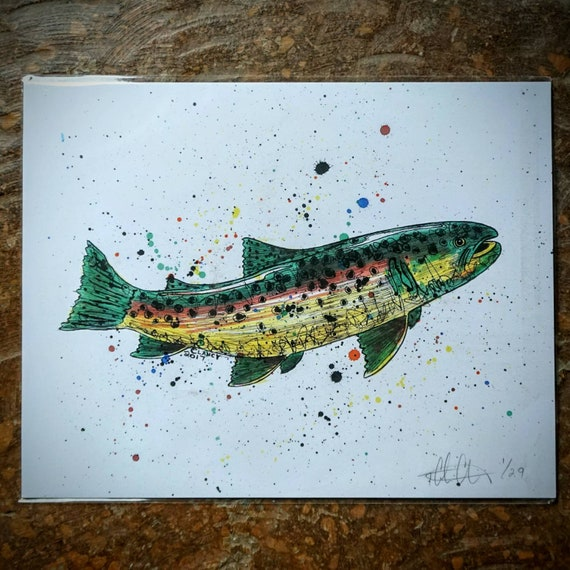 Brown Trout Print - 11x14 - Limited Edition