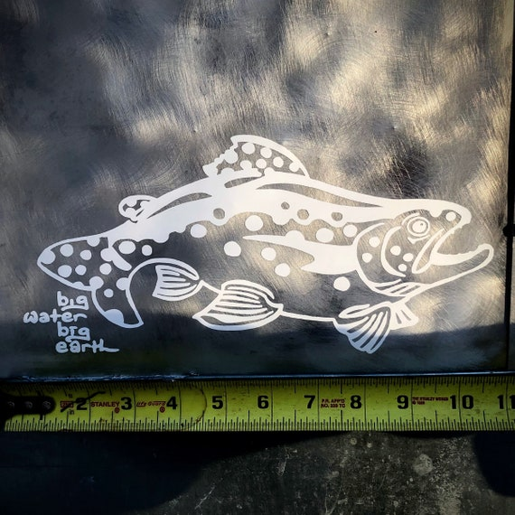10 Inch Vinyl Trout Decal