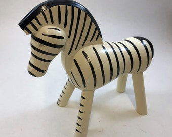 525b9cced Vintage Kay Bojesen Zebra Figure -- Danish Wood Sculpture, Toy, 5.5 Inches,  Midcentury, Made in Denmark, Collection, Gift