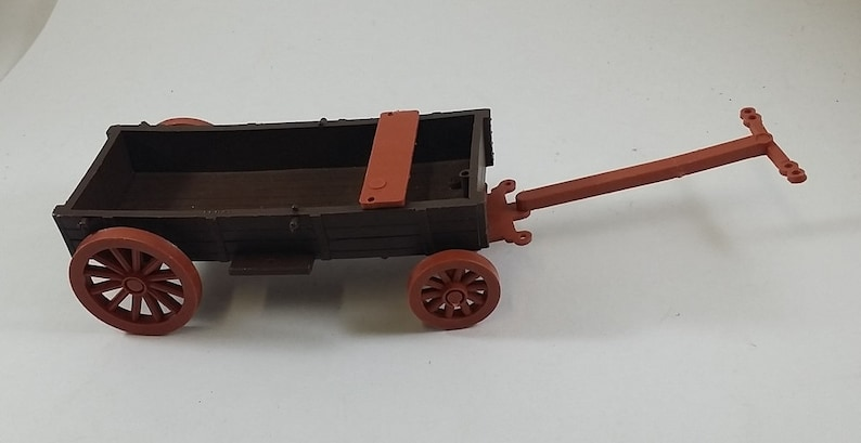 Vintage Timpo Toys Buckboard Wagon for Wild West /Cowboy / Pioneer Play--  1970s, Plastic, Complete, Made in England, Collection, Gift