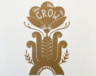 Grow - Flower Power Print