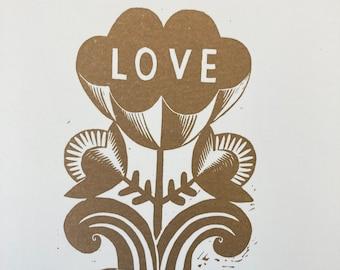 Love - Flower Power Print