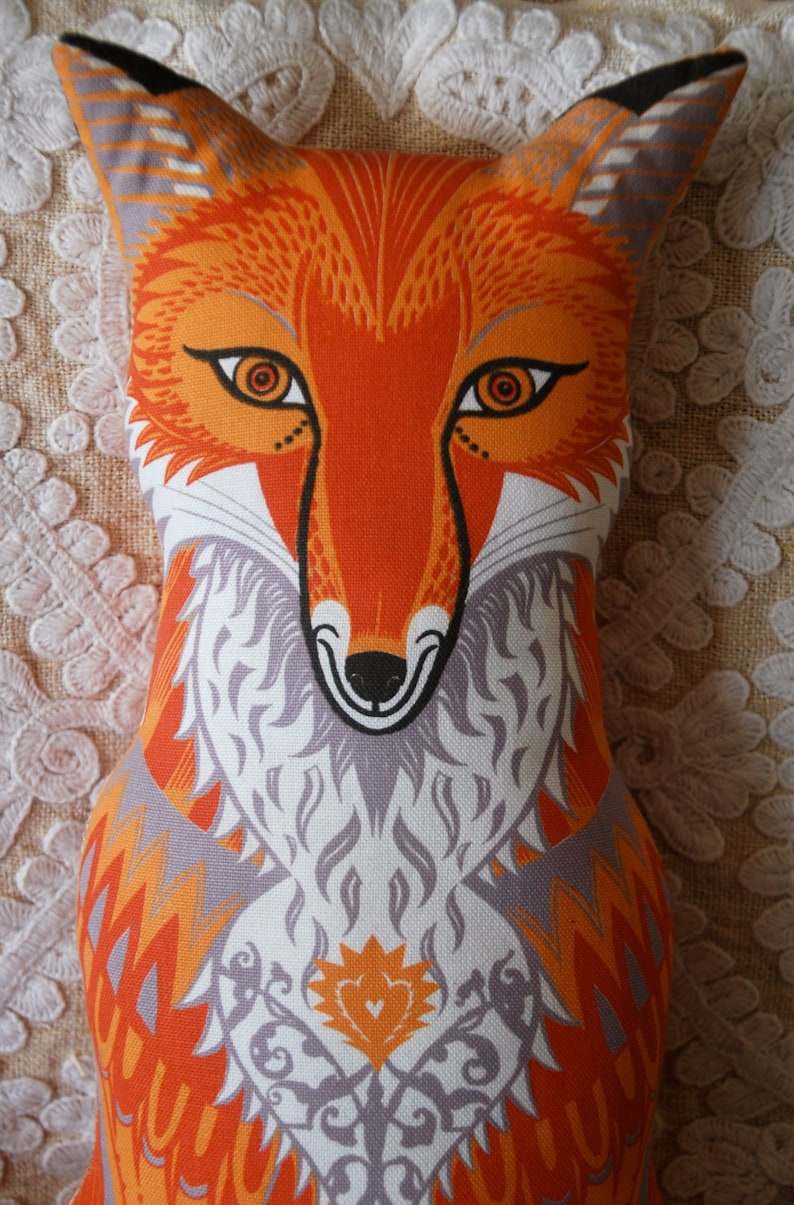 Felix the Fox Tea Towel / Cloth Kit  A silkscreen design by image 0