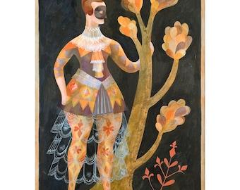 Zerbinetta - Commedia dell'arte Print