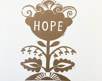 Hope - Flower Power Print