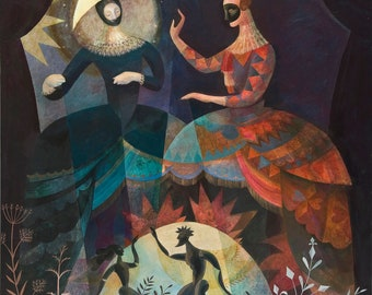 Moon and Sun / Puppeteers Print