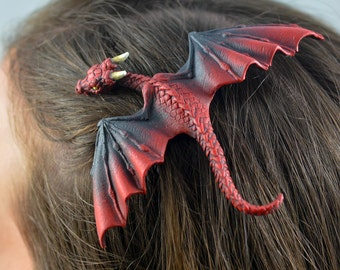 Custom Made Realistic Baby Dragon Hair Clip in Your Choice of Colour - PRE-ORDER