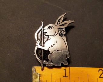 Single Animal Pewter Archer Rabbit