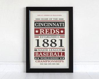 Cincinnati Reds - Screen Printed Poster