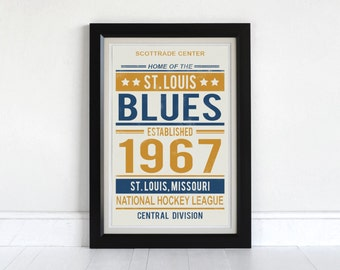 St. Louis Blues - Screen Printed Poster