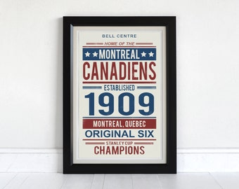 Montreal Canadiens - Screen Printed Poster
