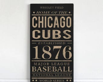 Chicago Cubs - Wood Sign