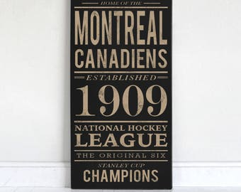 Montreal Canadiens - Wood Sign