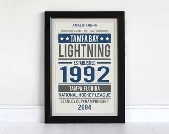 Tampa Bay Lightning - Screen Printed Poster
