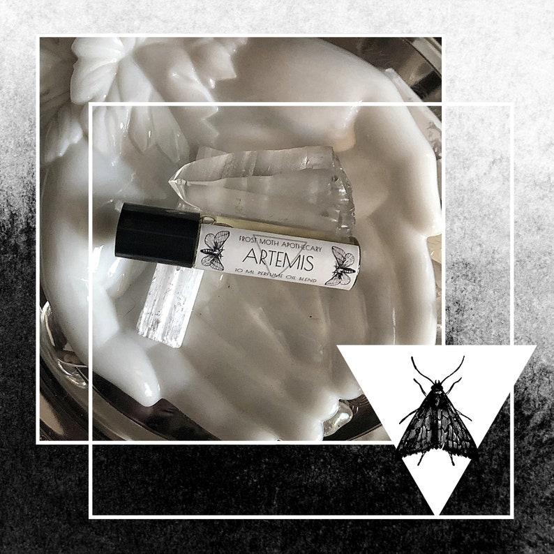 ARTEMIS  Handmade Perfume Oil Perfume Oil Roll On Witchy image 0