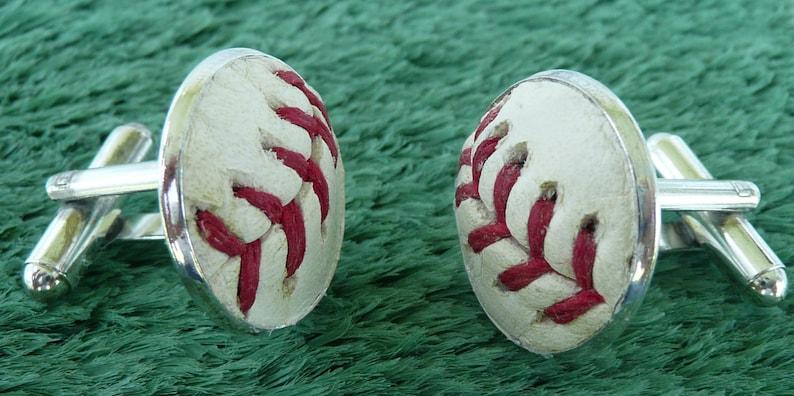 Handmade Cuff Links Using a Real Baseball Baseball Cufflinks