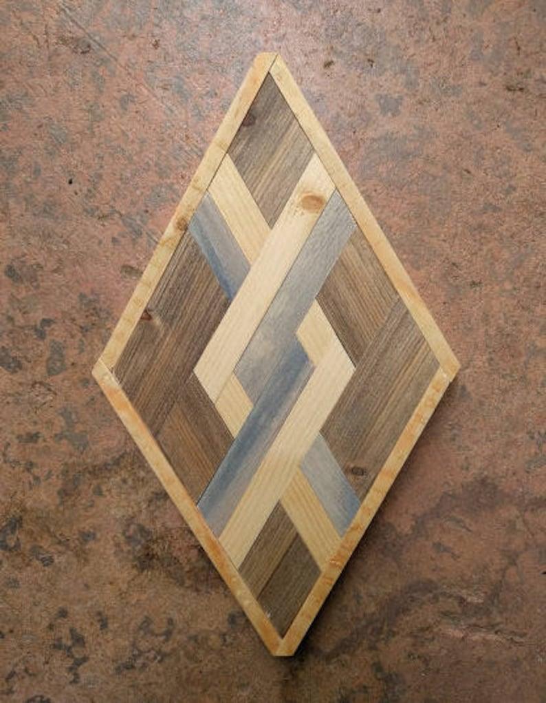 sold - diamond woodworking art
