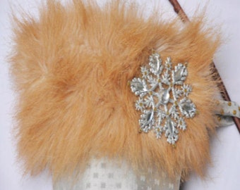 "Faux Fur Jeweled Cavalier Christmas Stocking ""Cathrine the Great """