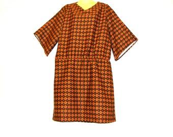 Shopping, Clothes,Abstract Dress - Jersey Dress - Knee Length Dress  - Womens Dress - 1920s Dress - Size 14 - Medium - Size 12