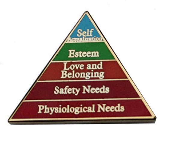Maslow's Hierarchy Pin Maslow's Hierarchy Of Needs Enamel Pin by Etsy