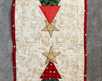 Christmas Tree Quilted Table Runner