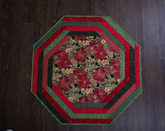 Christmas Quilted Table Centerpiece