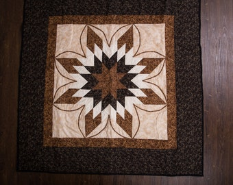 Quilted Wall Hanging In Brown Tones