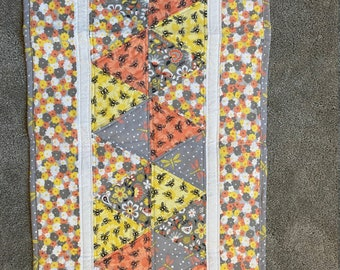 Quilted Table Runner with Bees