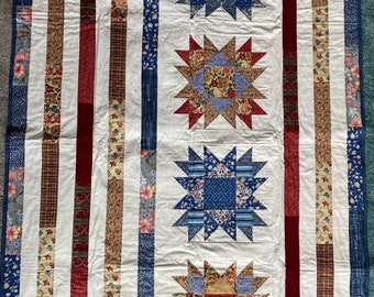 Beautiful Patriotic Quilted Wall Hanging
