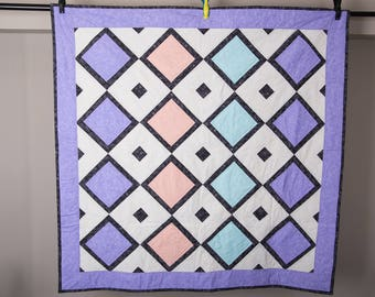 Pastel Quilted Wall Hanging