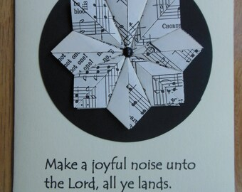 Hymnal Star/Bible Verse All Occasion Blank Notecard
