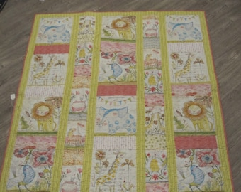 Whimsy wildlife Baby - toddler quilt